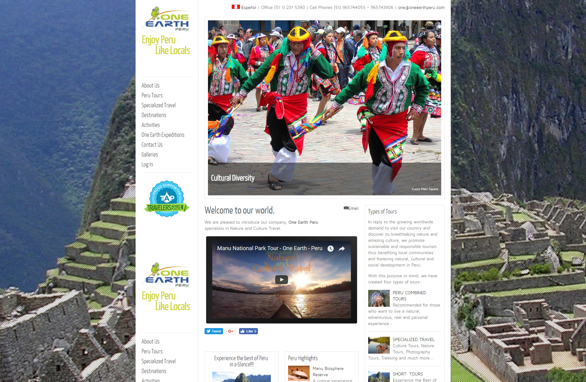 One Earth Peru Tours, Nature and Culture Travel, and Expeditions